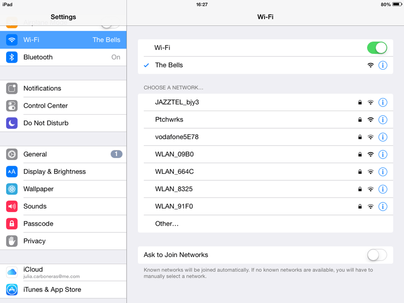 Choose-WIFI-on-iPad