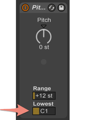 Adjust the Pitch Lowest parameter to the first tone in the octave you want to play with your instrument.